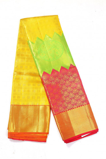 000BRID4555PONNU - multi colour tissue wedding silk saree