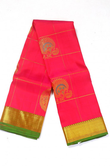 000BRID4590PONNU - Red and green weding silk saree