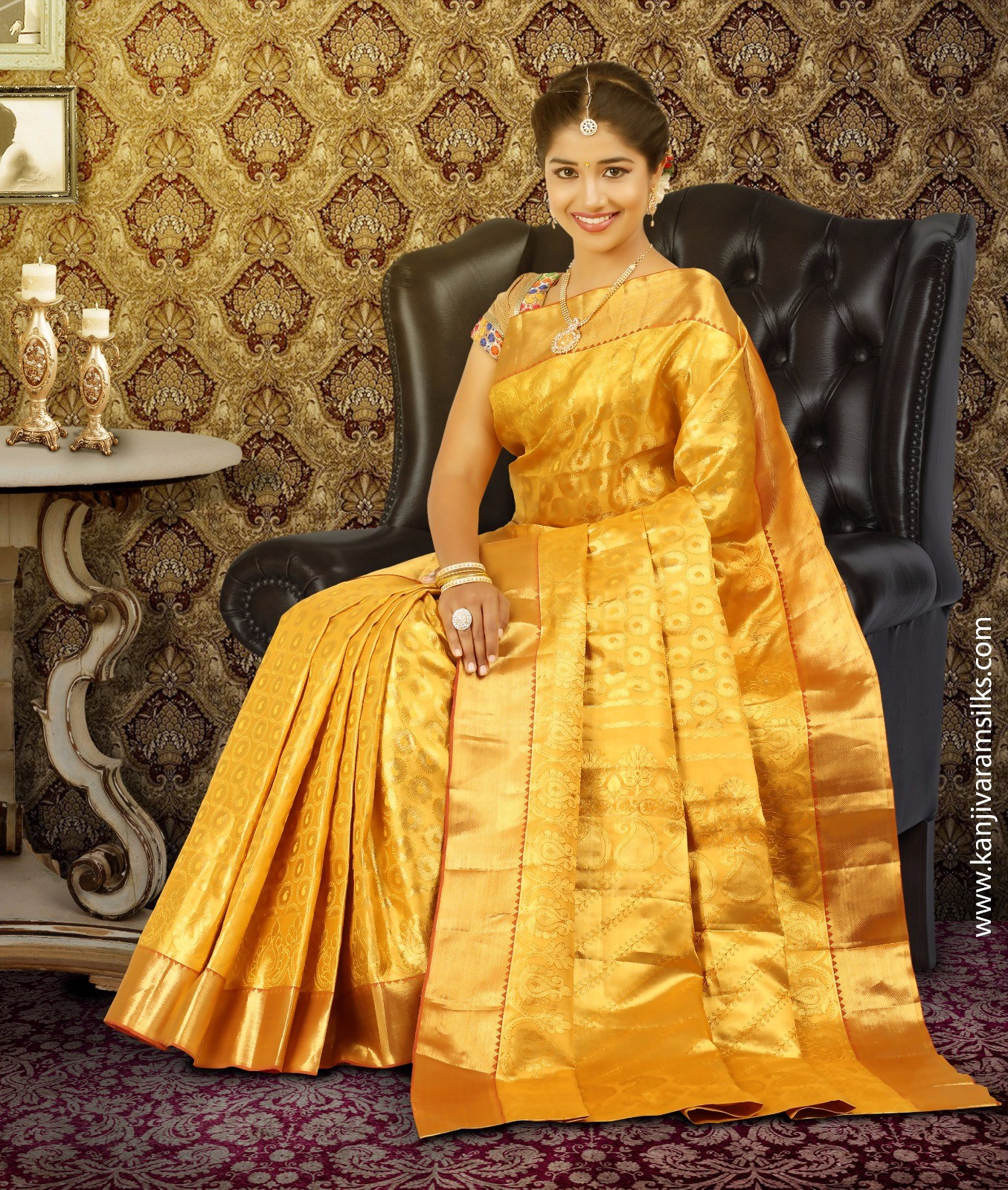 Full Gold Wedding Saree @ Kanjivaramsilks.com