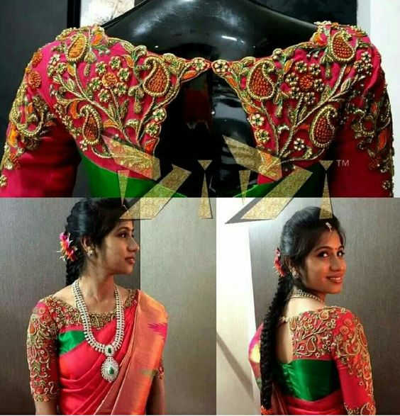 Embroidery blouse designs