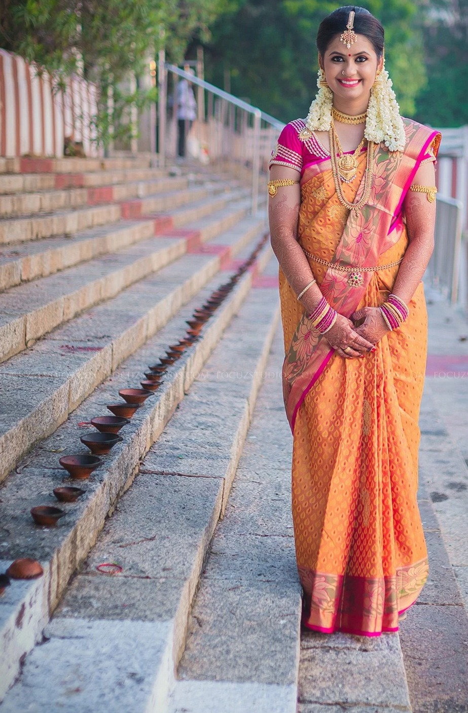 brahmin indian wedding saree