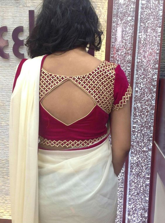 enbroidery cool blouse design
