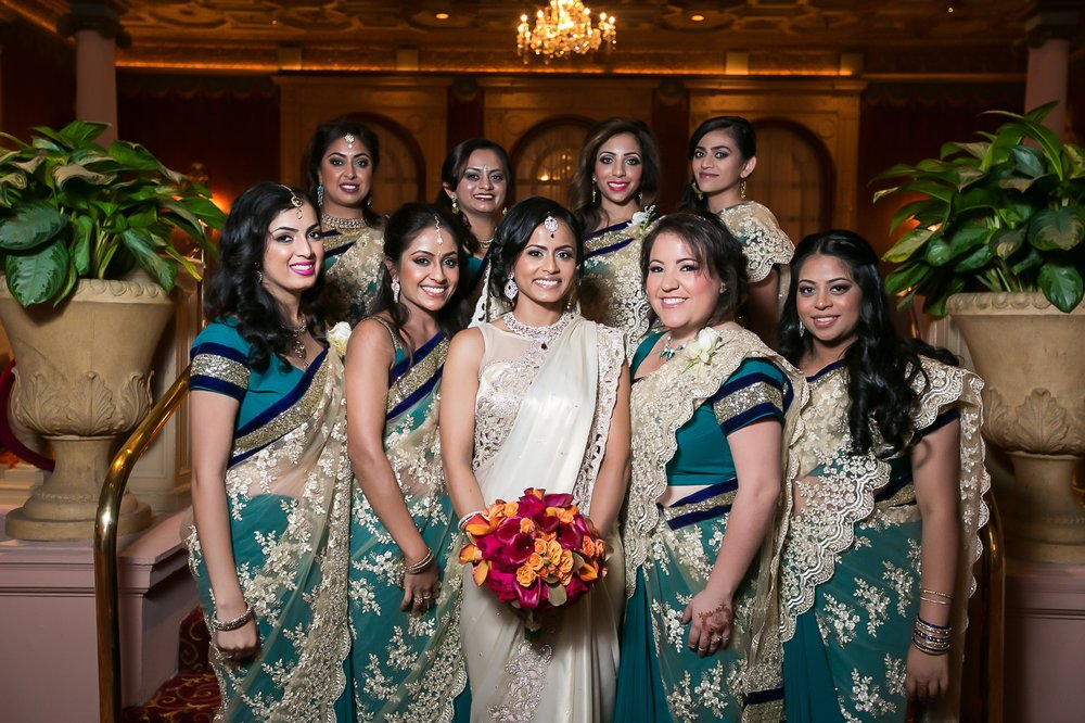Indians in iselin with saree clothing