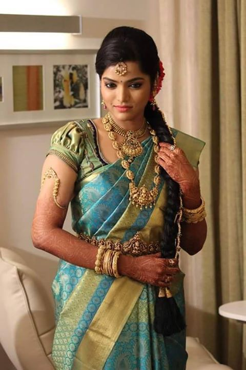 kanchipuram wedding saree with blouse
