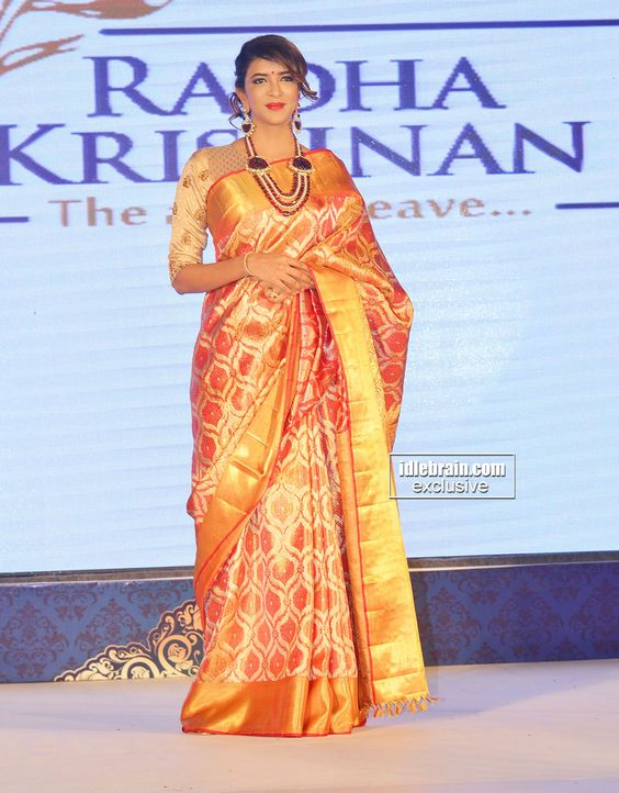 lakshmi manchi in indian wedding saree