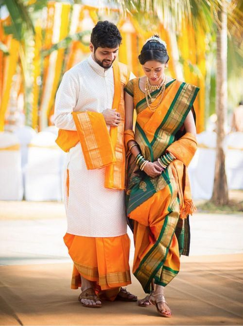 mustard wedding saree with blouse