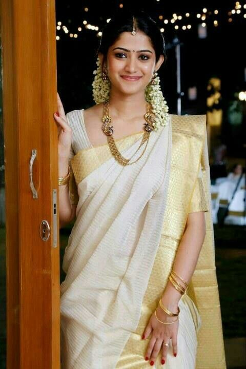 off white bridal saree