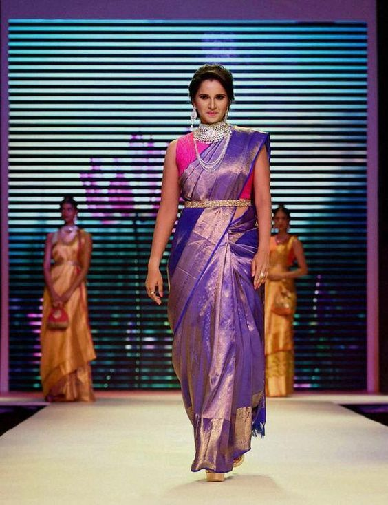 sania mirza in wedding saree