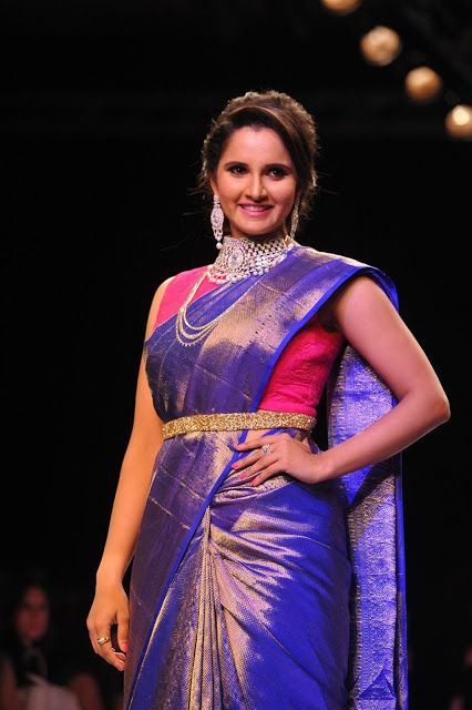 sania mirza indian wedding saree