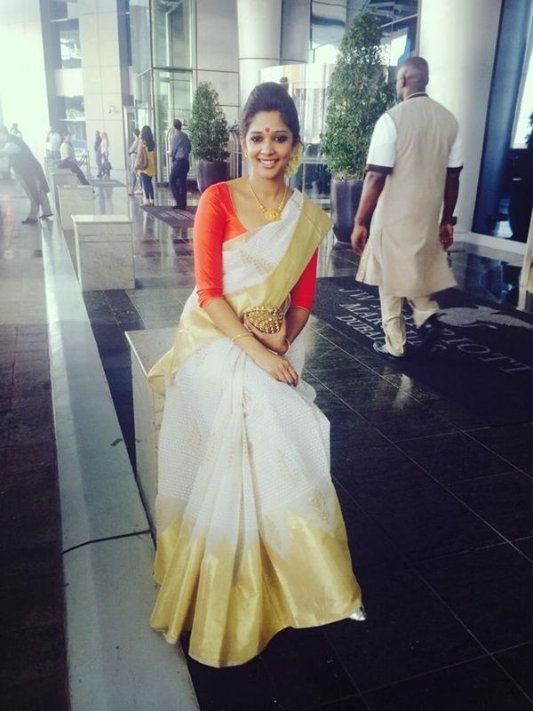 white saree pic at new york usa